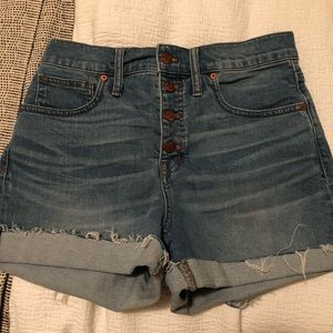 Madewell Denim Shorts: Button Front Edition